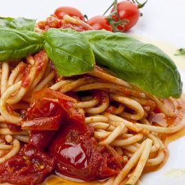 Spaghetti Pomodoro e Basilico Confezione da 0,300KG impiattato