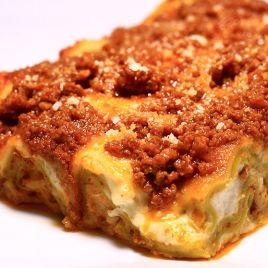 Lasagne alla Bolognese Confezione da 0,280KG impiattato