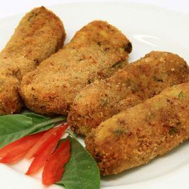 Crocchette di Carne e Patate Confezione da 0,300KG impiattato