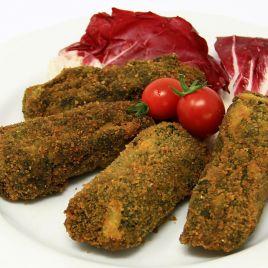 Polpette Spinaci e Mozzarella Confezione da 0,250KG impiattato
